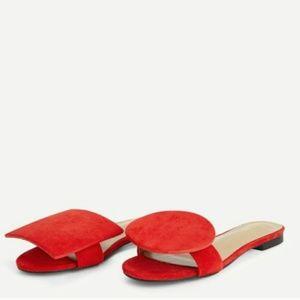Circle Square Red Flip Flop Sandal 10